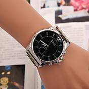 Hombre Reloj de Moda Reloj Casual Aleación Banda Plata