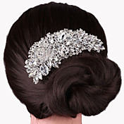 Mujer Cristal Plateado Peine - Fiesta Elegant Boda