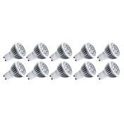 4W E14 GU10 GU5.3(MR16) E26/E27 LED-spotpærer MR16 5 leds Høyeffekts-LED Dekorativ Varm hvit Kjølig hvit 400lm 3000/6500K AC 85-265V