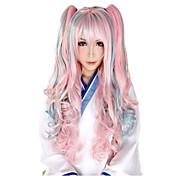 Mujer Pelucas sintéticas Rizado Rosa Pelo Ombre Peluca de carnaval Peluca lolita Peluca de Halloween Pelucas para Disfraz