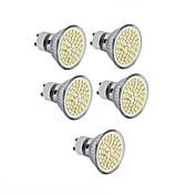 5pcs 3.5W 300-350lm GU10 GU5.3(MR16) E26 / E27 LED-spotpærer MR16 60 LED perler SMD 2835 Dekorativ Varm hvit Kjølig hvit 110-130V 12V