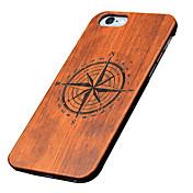 Funda Para Apple Funda iPhone 5 Diseños En Relieve Funda Trasera Caricatura Dura De madera para iPhone 7 Plus iPhone 7 iPhone 6s Plus