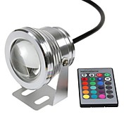 10W Luces Bajo el Agua 800-1000 lm RGB LED de Alta Potencia Control Remoto / Impermeable DC 12 V 1 piezas