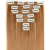 Extensiones de cabello humano Alta calidad Recto Clásico Mujer Diario