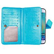 Etui Til Samsung Galaxy Samsung Galaxy S7 Edge Kortholder Lommebok med stativ Flipp Heldekkende etui Helfarge Myk PU Leather til S8 Plus