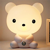 de dibujos animados Bruin habitación bastante linda del bebé animal de la noche la luz de la lámpara de luz para dormir la noche de la