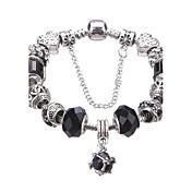 Dame Vedhend Armband Strand Armbånd Krystall Mote Holdbar Europeisk Med perler Krystall Akryl Strass Sølvplett Geometrisk Form Smykker