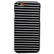 Para iPhone 8 iPhone 8 Plus iPhone 6 iPhone 6 Plus Carcasa Funda Diseños Cubierta Trasera Funda Líneas / Olas Dura Policarbonato para