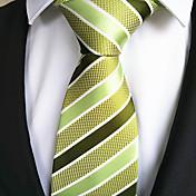 Hombre Moda Amarillo Verde Tejido Pasador