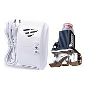 gas natural alarma detector de fugas lpg con solenoide electromagnética DN15 auto válvula de cierre