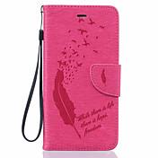 Etui Til Apple iPhone 6 iPhone 6 Plus Kortholder Lommebok Støvtett Støtsikker med stativ Heldekkende etui Fjær Myk PU Leather til iPhone