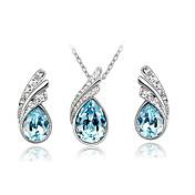 Mujer Cristal Conjunto de joyas - Brillante, Cristal Austriaco Moda Incluir Collar / pendientes Fucsia / Rojo / Azul marinero Para Diario / Casual / Pendientes / Collare