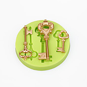 Decoraciones de pastel molde barroco claves estilo vintage silicona molde chocolate polímero arcilla sugarcraft herramientas de color al azar