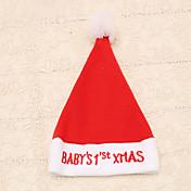 1 개 빨간색 자수 아기 크리스마스 단어 크리스마스 모자 새 해 모자 파티 용품