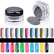 1PC Glitter y Poudre / Polvo Glitters / Clásico / Brillo y chispa Nail Art Design Diario
