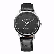 REBIRTH Hombre Cuarzo Reloj de Pulsera / Gran venta PU Banda Casual Reloj de Vestir Negro Marrón
