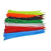 100pcs / bag fastnettet selvlåsende kabel 4x200mm nylonkabel glidelåser