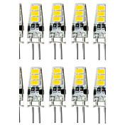 1.5W 150-200lm G4 LED-lamper med G-sokkel T 6 LED perler SMD 5733 Vanntett Dekorativ Varm hvit Kjølig hvit 12V