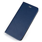 Funda Para Samsung Galaxy Samsung Galaxy S7 Edge Soporte de Coche con Soporte Flip Funda de Cuerpo Entero Color sólido Dura Cuero de PU