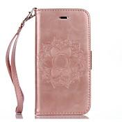 Etui Til Apple iPhone X iPhone 8 iPhone 8 Plus Etui iPhone 5 iPhone 6 iPhone 7 Kortholder Lommebok med stativ Inngravert Heldekkende etui