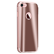 Funda Para Apple Funda iPhone 5 iPhone 6 iPhone 7 Cromado Espejo Funda Trasera Armadura Dura Metal para iPhone 7 Plus iPhone 7 iPhone 6s