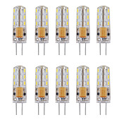 10pcs 1W 460lm G4 Luces LED de Doble Pin Tubo 24 Cuentas LED SMD 3014 Decorativa Blanco Cálido Blanco Fresco 12V