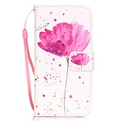 Etui Til Apple iPhone X / iPhone 8 / iPhone 7 Kortholder / Mønster Heldekkende etui Blomsternål i krystall Hard PU Leather til iPhone X / iPhone 8 Plus / iPhone 8