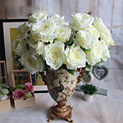 1 1 Rama Poliéster / Plástico Rosas Flor de Mesa Flores Artificiales 22*5.1inch/56*13cm