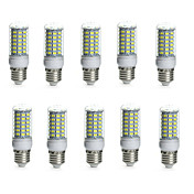 10pcs 10W 850-950lm E14 G9 GU10 E26 / E27 B22 LED-kornpærer Tube 69 LED perler SMD 5730 Vanntett Dekorativ Varm hvit Kjølig hvit 110-130V