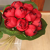 1 1 Rama Poliéster / Plástico Loto Flor de Mesa Flores Artificiales 9*7.8inch/23*20cm