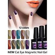 Gel UV para esmalte de uñas 10ml 1 Magnético Empapa Glitters Gel de color UV Clásico Reluciente Empapa de Larga Duración Diario Magnético