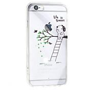 Para Funda iPhone 7 Funda iPhone 7 Plus Funda iPhone 6 Transparente Funda Cubierta Trasera Funda Dibujos Dura Acrílico para AppleiPhone 7