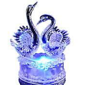 1 stk LED Night Light Batteri Mangefarget Akryl Plast 1 Lampe Ingen Batterier Inkludert
