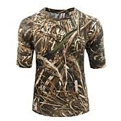 Unisex Manga Corta Camiseta de caza con camuflaje Antiestático Transpirable Antibacteriano camuflaje Camiseta Top para Camping y