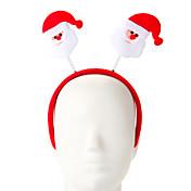 1 pc esponja santa claus diseño aro para el cabello adorno de fiesta de navidad