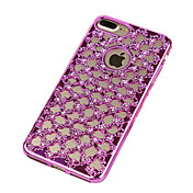 Para iPhone 8 iPhone 8 Plus iPhone 7 iPhone 6 Funda iPhone 5 Carcasa Funda Cromado Ultrafina Cubierta Trasera Funda Color sólido Suave TPU