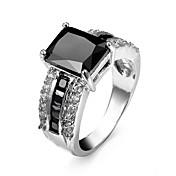 Herre Dame Parringer Ring Statement Ring Kubisk Zirkonium Personalisert Luksus Kjærlighed Mote Zirkonium Kubisk Zirkonium Strass Legering