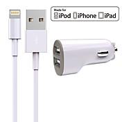 Cargador de Coche Cargador usb Universal Kit de Carga 2 Puertos USB 2.4 A DC 12V-24V