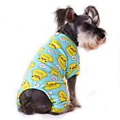 Kat Hund Kjeledresser Pyjamas Hundeklær Tegneserie Gul Rød Blå Rosa Blå-Gul Bomull Kostume For kjæledyr Herre Dame Søtt Fritid/hverdag