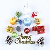 1 juego de 16 piezas decoraciones para interiores / residenciales de árboles de Navidad