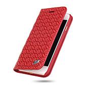 용 아이폰7케이스 / 아이폰7플러스 케이스 / 아이폰6케이스 지갑 / 카드 홀더 / 스탠드 케이스 풀 바디 케이스 단색 하드 천연 가죽 Apple아이폰 7 플러스 / 아이폰 (7) / iPhone 6s Plus/6 Plus / iPhone