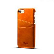 Funda Para Apple iPhone X iPhone 8 iPhone 8 Plus iPhone 7 Plus iPhone 7 Soporte de Coche Funda Trasera Color sólido Dura Cuero de PU para