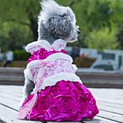 Perros Vestidos Ropa para Perro Boda Moda Flor Verde Rosa