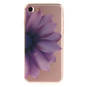 Para Funda iPhone 7 Funda iPhone 6 IMD Funda Cubierta Trasera Funda Flor Suave TPU para AppleiPhone 7 Plus iPhone 7 iPhone 6s Plus/6 Plus