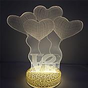 1 stk 3D nattlys Kompaktstørrelse LED