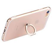 제품 iPhone 7 iPhone 7 Plus iPhone 6 케이스 커버 링 홀더 투명 뒷면 커버 케이스 한 색상 소프트 TPU 용 Apple iPhone 8 Plus iPhone 8 아이폰 7 플러스 아이폰 (7) iPhone 6s Plus
