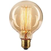 Ecolight™ 1pc 40W E27 E26/E27 G80 Varm hvit 2300 K Glødende Vintage Edison lyspære AC 220-240V V