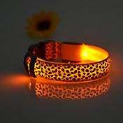 Kat Hund Krave LED Lys Justerbare / Uttrekkbar Oppladbar Elektronisk/Elektrisk Leopard Nylon