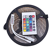 5 m Sets de Luces LED 3528 SMD RGB Control remoto / Cortable / Regulable 12 V / IP65 / Impermeable / Conectable / Adecuadas para Vehículos / Auto-Adhesivas