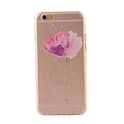 Para Funda iPhone 6 Funda iPhone 6 Plus Carcasa Funda Transparente Diseños Cubierta Trasera Funda Flor Suave TPU para iPhone 6s Plus